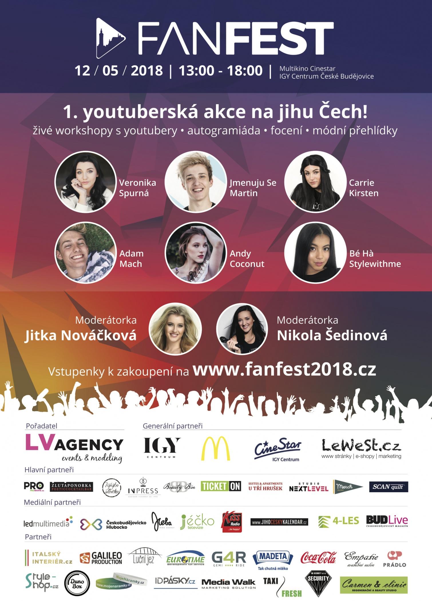 1. ročník youtuberské akce FANFEST na jihu Čech