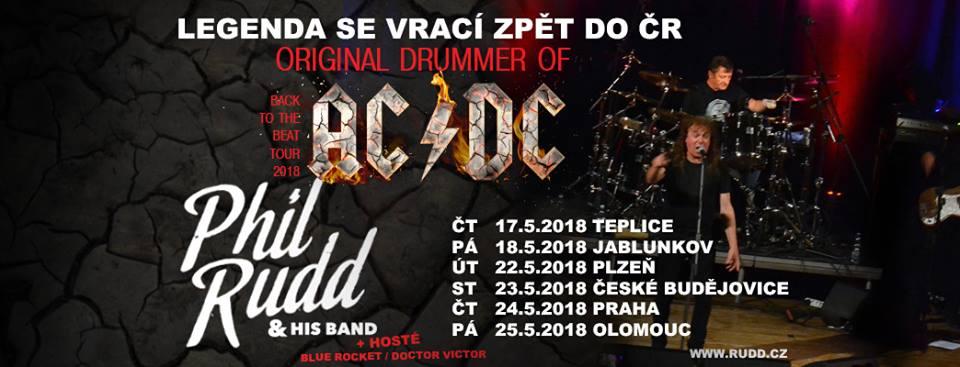 Bubeník Phil Rudd z AC/DC v Českých Budějovicích