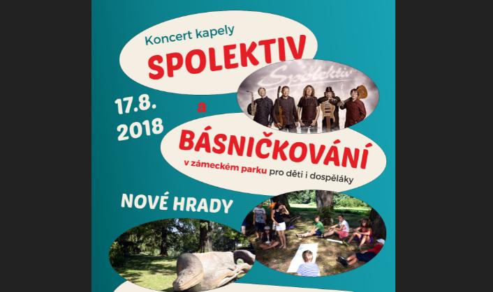 Literárně-hudební setkání v zámeckém parku  v Nových Hradech už pošesté