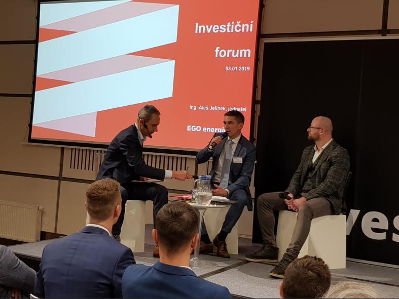 Do čeho úspěšně investovat a jak ušetřit v roce 2019? EGO ENERGIE se představila na 14. Investičním fóru.