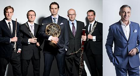 Jan Čenský /umělecký přednes/,  Prague Philharmonia Wind Quintet / MEZINÁRODNÍ HUDEBNÍ FESTIVAL ČESKÝ KRUMLOV