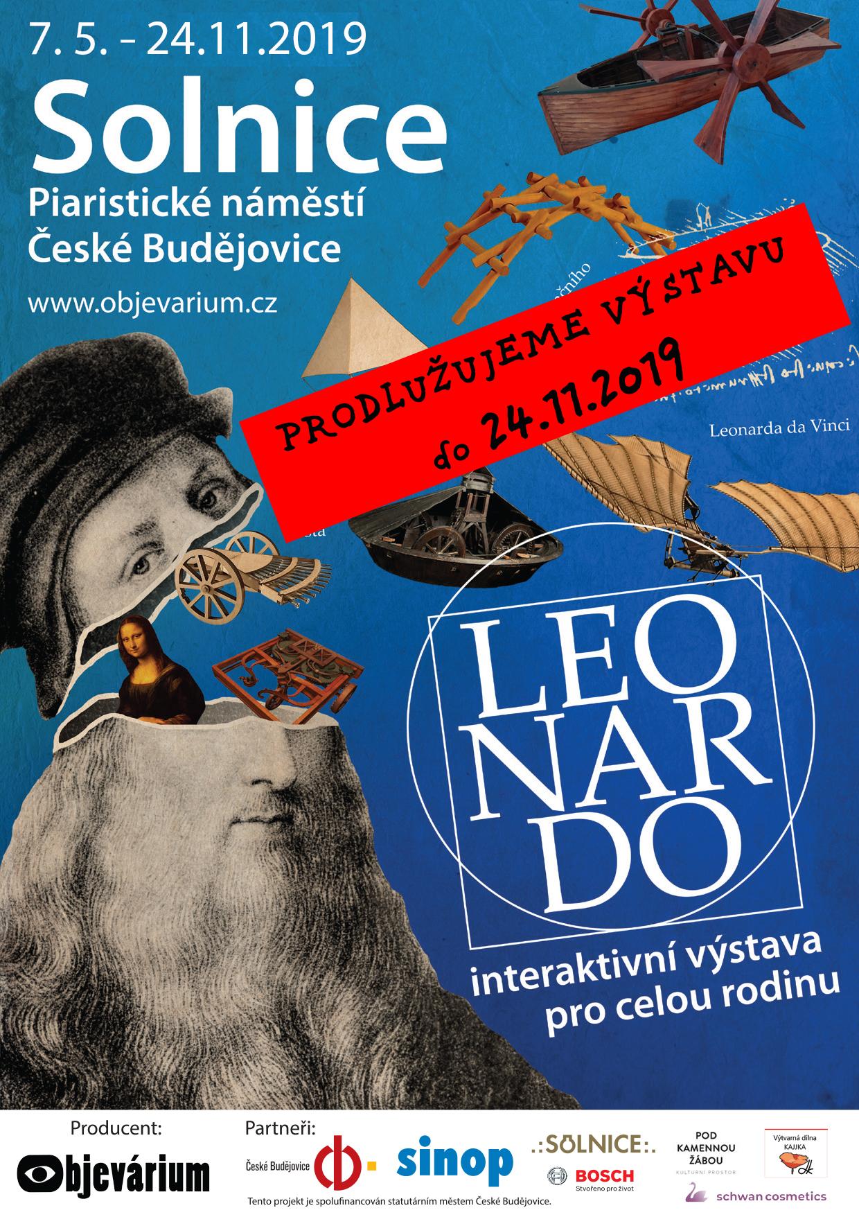 Leonardo da Vinci v Českých Budějovicích.  Pro velký úspěch PRODLUŽUJEME interaktivní expozici LEONARDO.