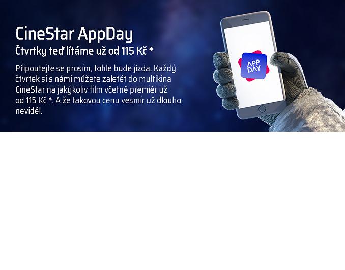 CineStar AppDay Čtvrtky teď lítáme už od 115 Kč