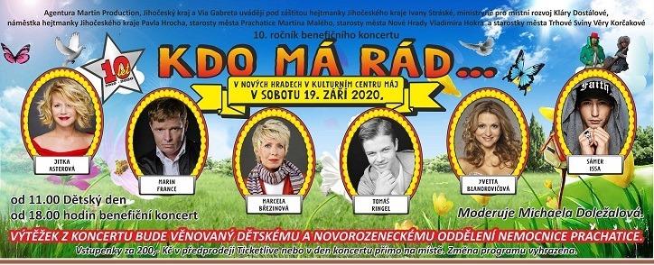 """""""KDO MÁ RÁD..."""" - benefiční koncert"""